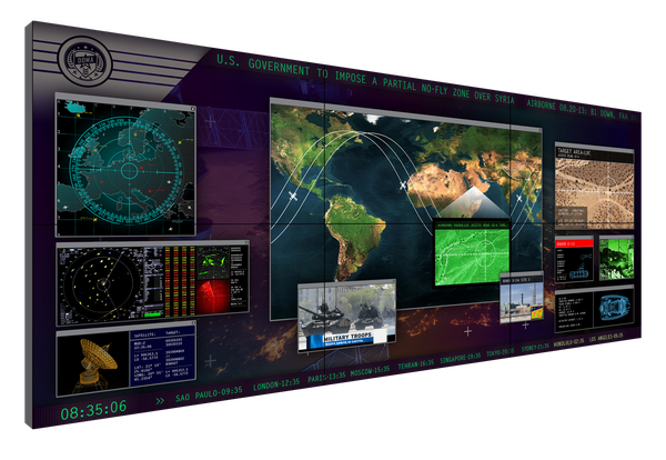 Matrix Data Wall For Control Room Noc And Dispatch Centers