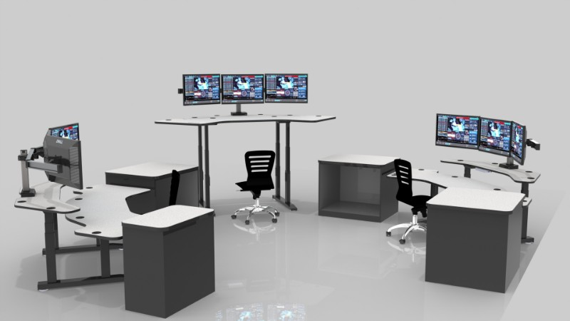 Command Flex Adjustable Height Console & NOC Furniture