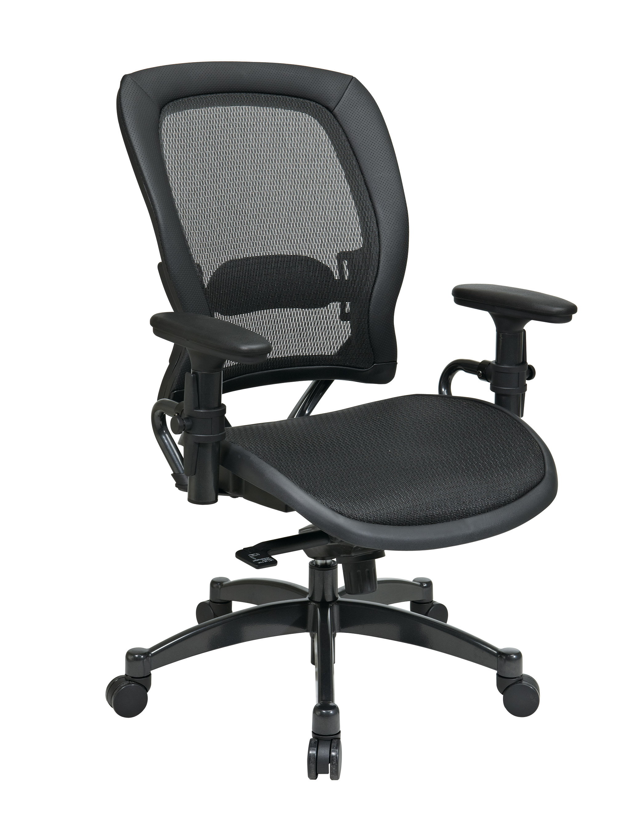 Black Breathable Mesh Chair Front - Professional Black Breathable Mesh Chair