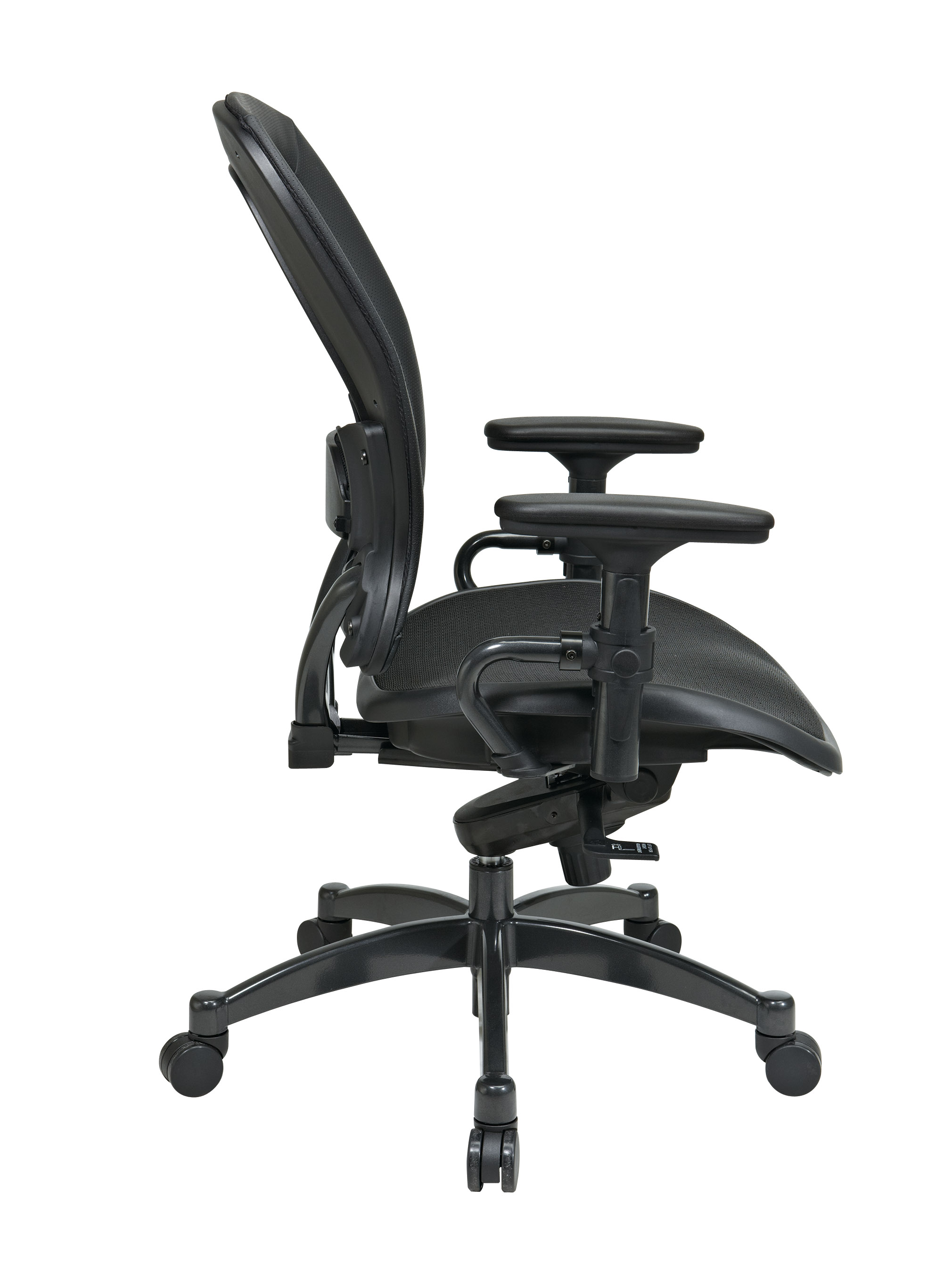 Black Breathable Mesh Chair Side - Professional Black Breathable Mesh Chair
