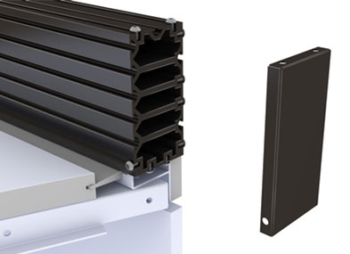 Slatwall Cube System and Endcap
