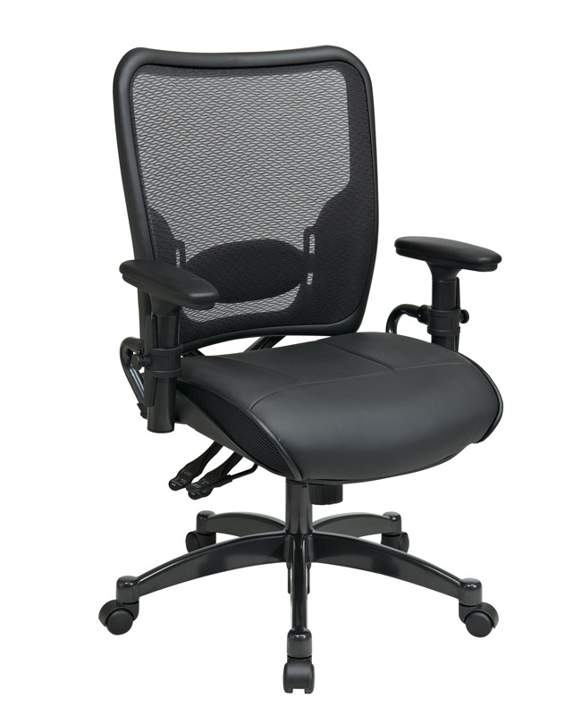Dual-Function-Ergo-Airgrid-Leather-Chair_Front