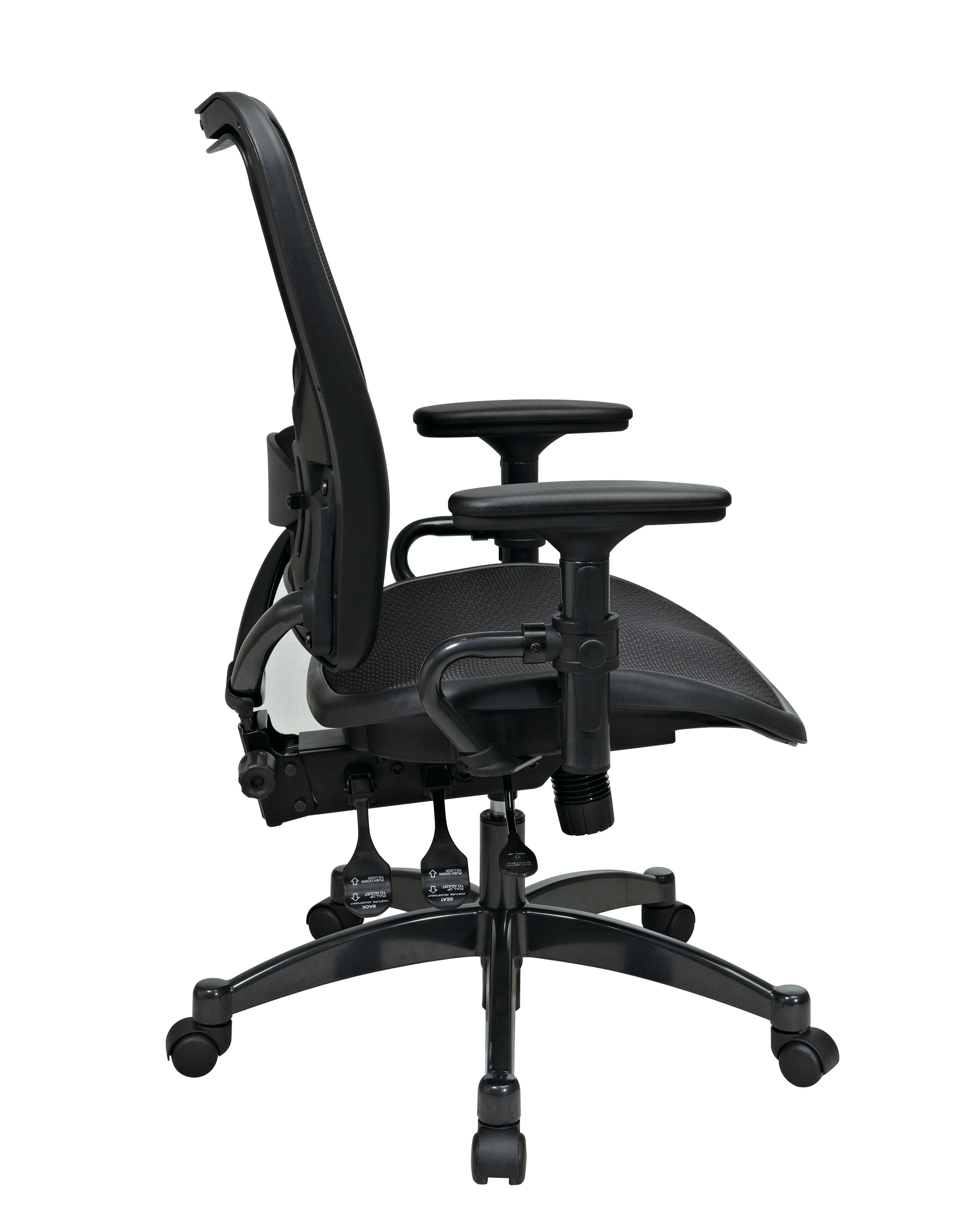 Dual Function Ergonmic Airgrid Chair Side - Professional Dual Function Ergonomics AirGrid Chair