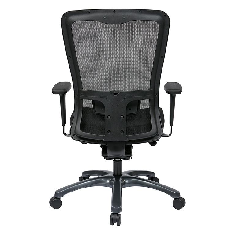 Dual Function Ergonomic Airgrid Chair Back - Professional Dual Function Ergonomic Air Grid Chair w/ Cloth Seat