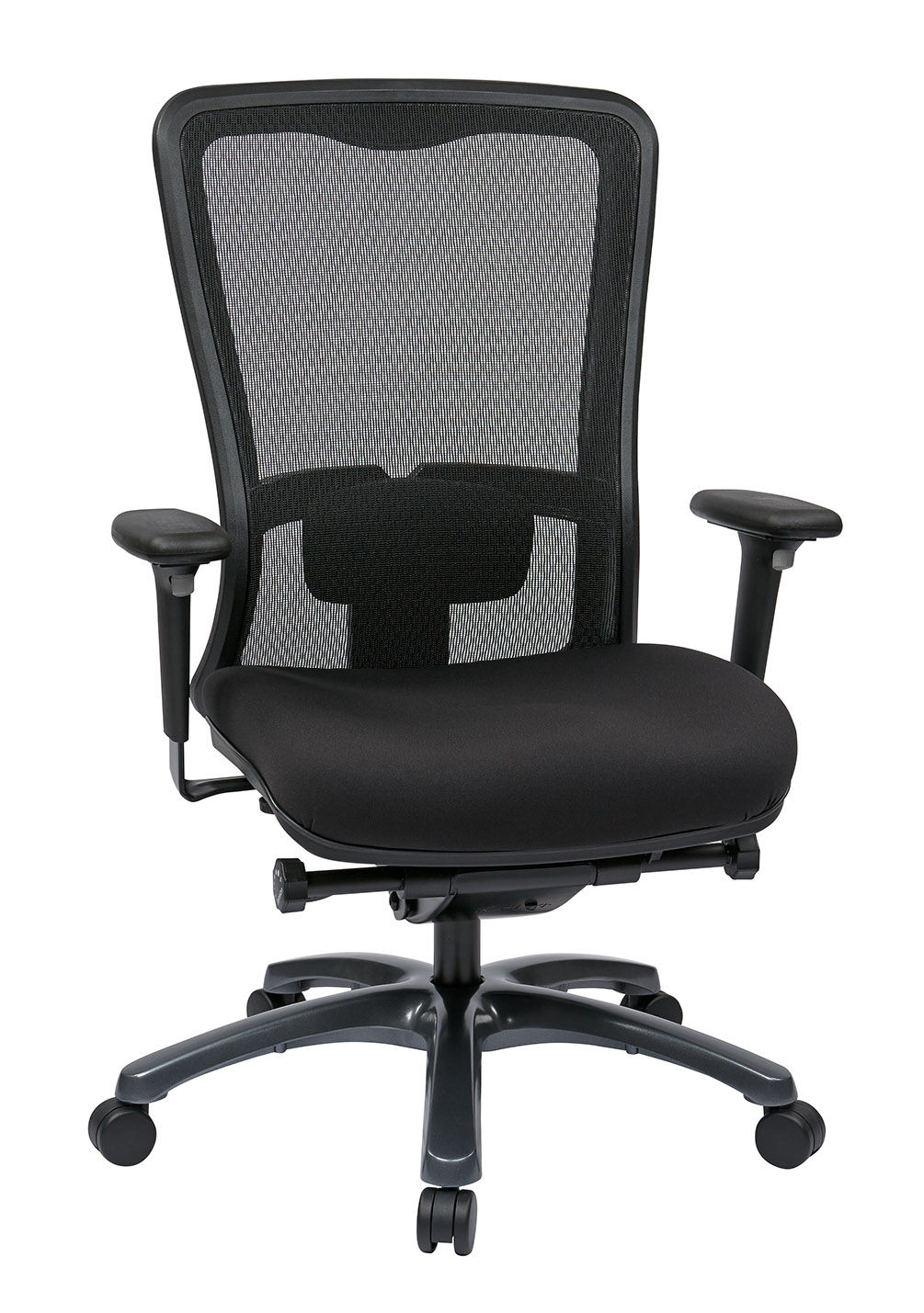 Dual Function Ergonomic Airgrid Chair Leather Front - Professional Dual Function Ergonomic Air Grid Chair w/ Cloth Seat