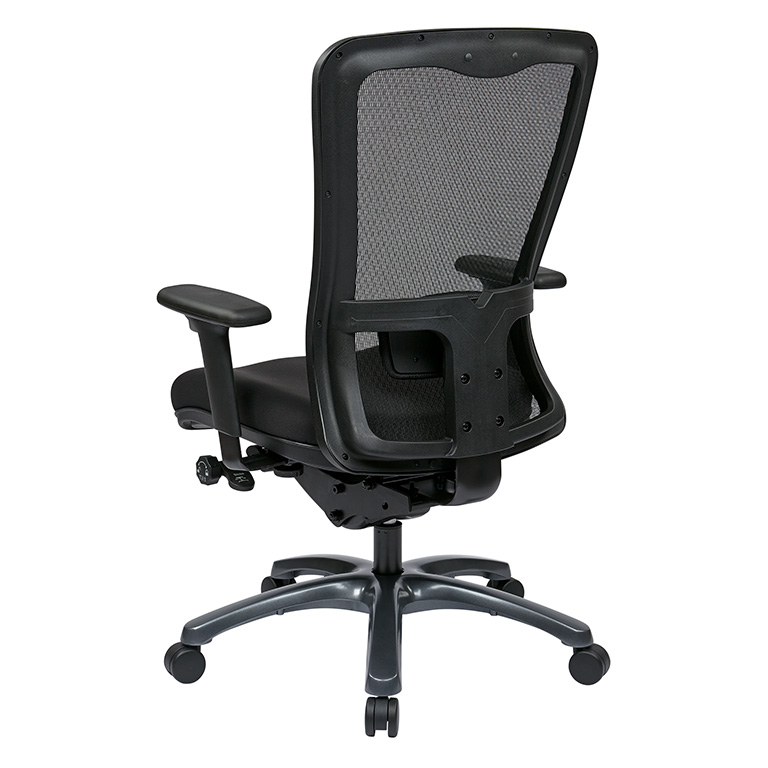 Dual Function Ergonomic Airgrid Chair Leather - Professional Dual Function Ergonomic Air Grid Chair w/ Cloth Seat
