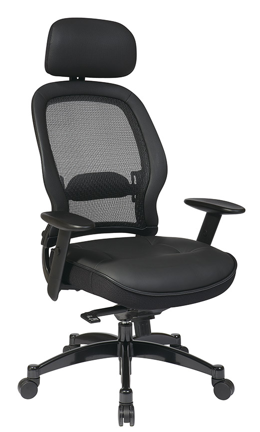 Mesh Back Managers Chair Front - Mesh Back Managers Chair With Adjustable Headrest