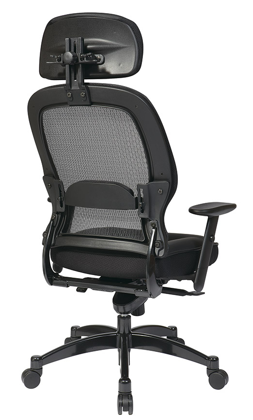 Mesh Back Managers Chair Rear - Mesh Back Managers Chair With Adjustable Headrest