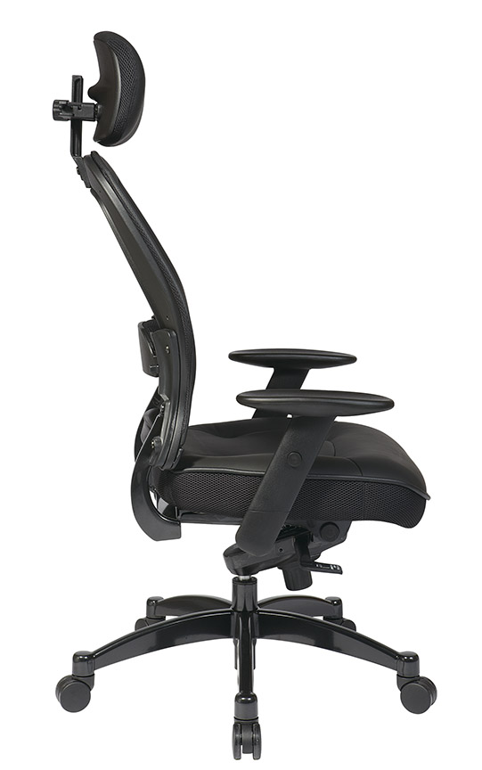 Mesh Back Managers Chair Side - Mesh Back Managers Chair With Adjustable Headrest
