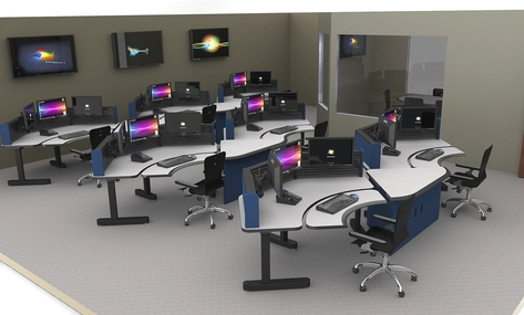 Command Tech Adjustable Height NOC Control Room Dispatch Consoles