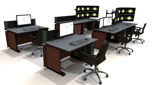 command tech noc furniture 1 - Command Flex Control Room/NOC Console Furniture