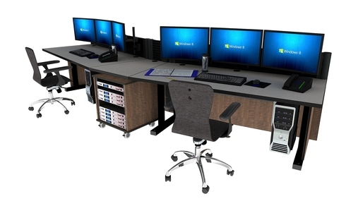 command tech noc furniture 2 - Command Flex Control Room/NOC Console Furniture