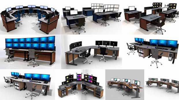 command tech noc furniture gallery - Command Flex Control Room/NOC Console Furniture