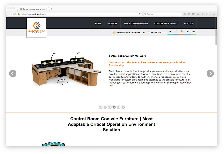 control room website screenshot
