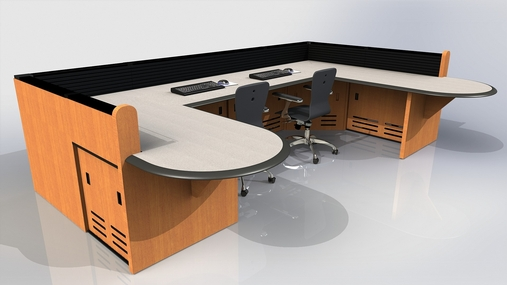 Custom Millwork For Command Center Furniture