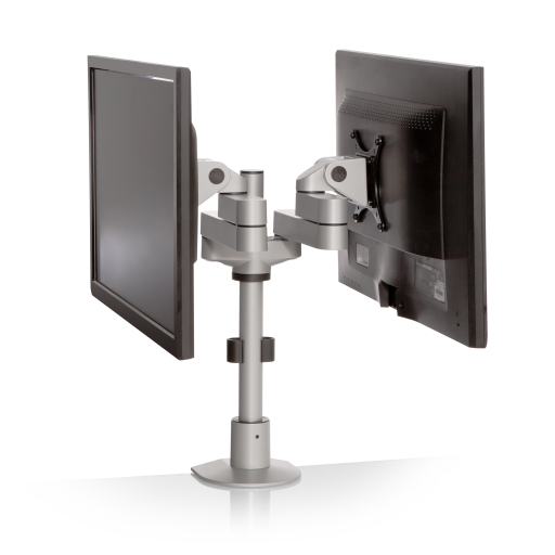 dual side by side monitor arm mounts for noc furniture 2 - Dual Side by Side Monitor Arm
