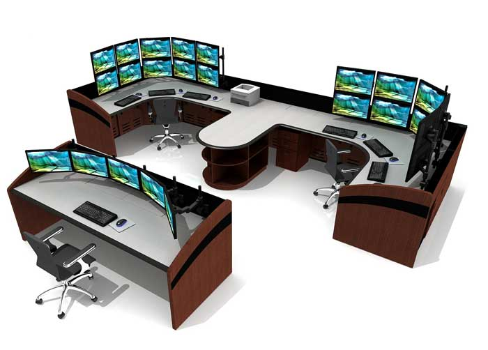 Console Furniture for NOC, Control Rooms, and Command Centers