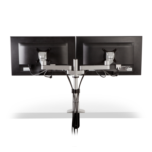 Dual Monitor Arms Mount for Console Furniture - Back