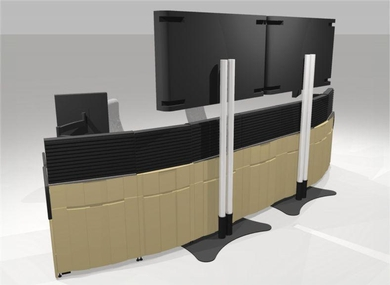 Large Display Mounts for Technical Furniture