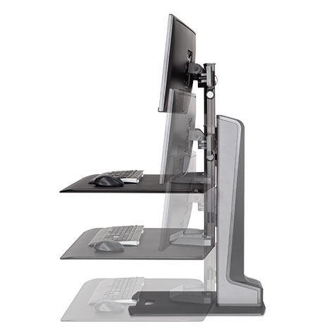 xtabbed slide ease of use console furniture arm - Winston-E™ Sit-Stand Arm