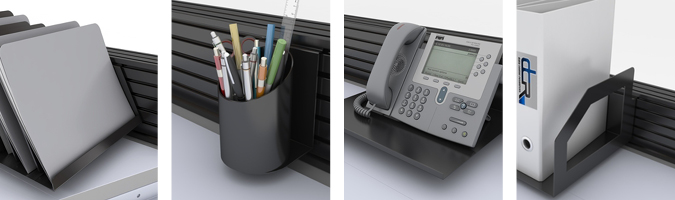 slatwall accessories on NOC Furniture