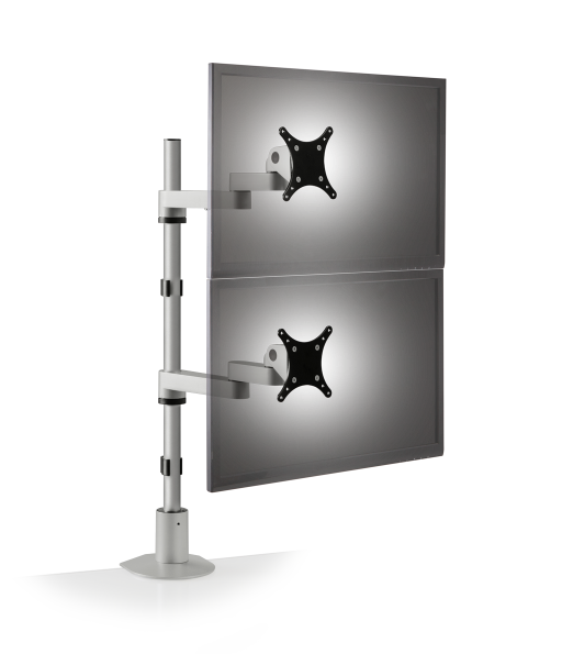 pole mount 9112 d 124 front.512x0 - Dual Tier Monitor Arm