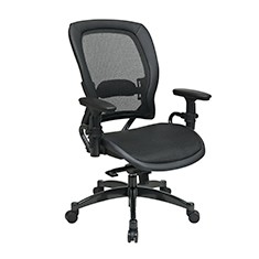 Black Breathable Mesh Chair Front Thumb - Professional Black Breathable Mesh Chair