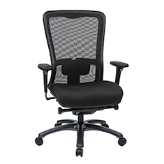 Dual Function Ergonomic Airgrid Chair Leather Front Thumb - Professional Dual Function Ergonomic Air Grid Chair w/ Cloth Seat