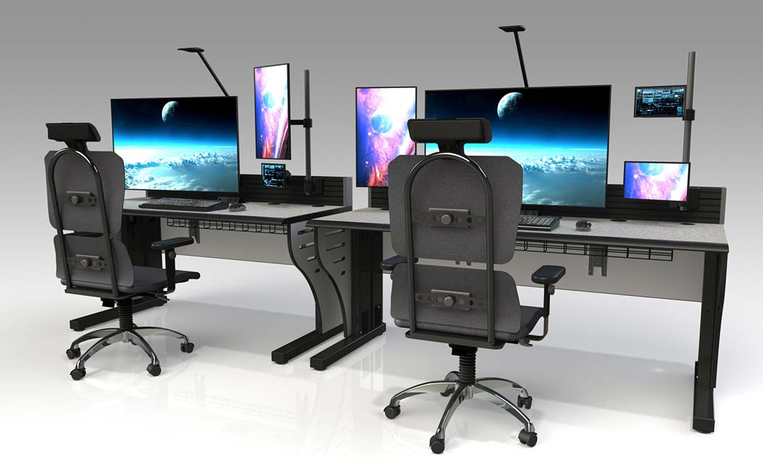 Space Mission Flight Control Center Console Furniture - Space Mission Flight Control Center (MCC) Console Furniture