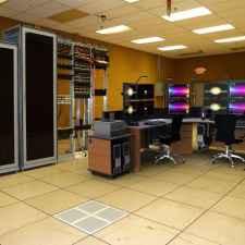 Computer desk console image