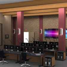 Control room furniture displays