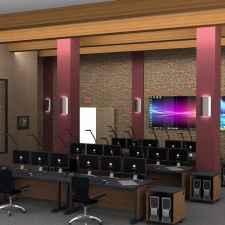 Control room furniture displays