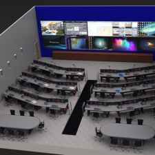 Control Room furniture multi-unit aerial view