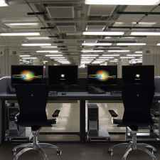 Network operations center furniture display rendering