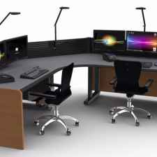 desks for control room and NOC rendering