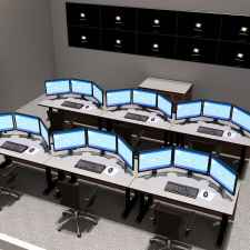 NOC desks multi-operator display rendering