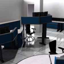 Control Room Furniture Rendering