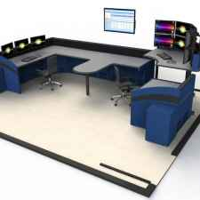 Control room consoles - multi-workstation rendering