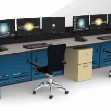 Control Room Consoles Rendering