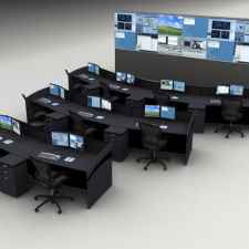 Control Room Consoles Rendering